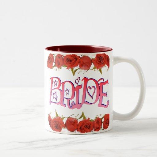 Filas subiós (1) de lujo de la novia taza de dos tonos