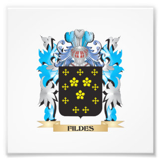 Fildes Coat of Arms - Family Crest Photographic Print