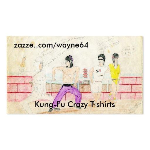 File0460, zazze..com/wayne64, Kung-Fu T loco s… Tarjetas De Visita