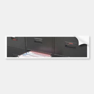 File cabinet bumper sticker
