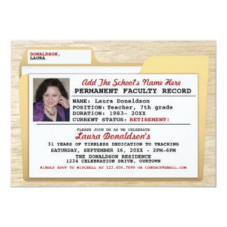 File Folder Teacher's Retirement Party Invitations
