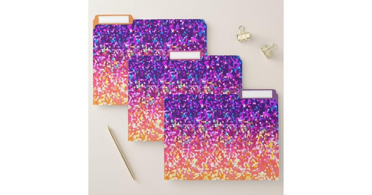 File Folders Glitter Graphic Zazzle Com