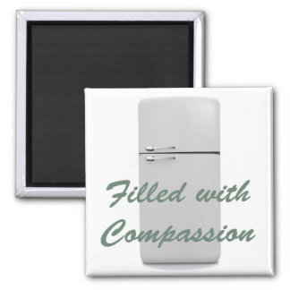 File lead with Compassion Refrigerator magnet