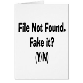 file not found black text funny computer design card