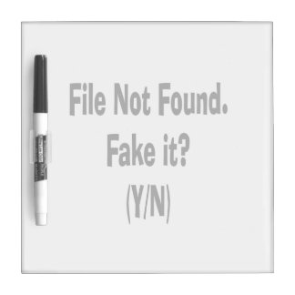 file not found black text funny computer design Dry-Erase whiteboard