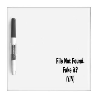 file not found black text funny computer design Dry-Erase board