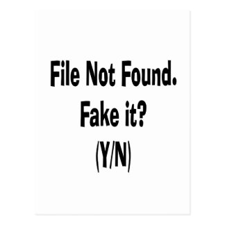 file not found black text funny computer design post cards