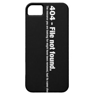 File not Found iPhone 5 Cover