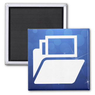 File Shelves Pictograph 2 Inch Square Magnet