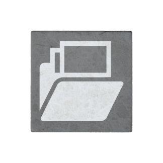File Shelves Pictograph Stone Magnet