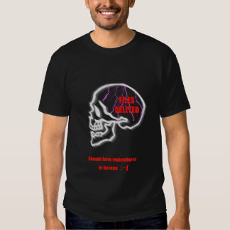 Files deleted skull skeleton geek nerd funny humor tee shirt