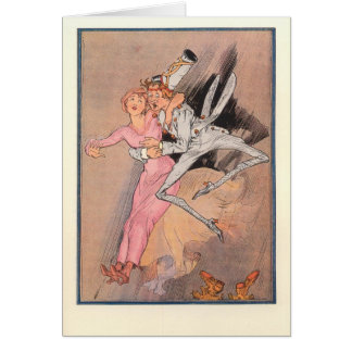 Files & the Rose Princess descend the Hollow Tube Greeting Card