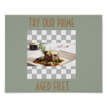 Filet Mignon Poster Menu Art by CREATIVEforBUSINESS at Zazzle