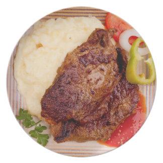 Filete de carne de vaca plato de cena