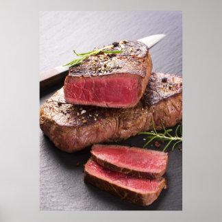 Filete de carne de vaca póster