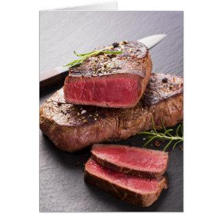 Filete de carne de vaca tarjeta de felicitación