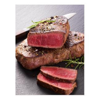 Filete de carne de vaca tarjetas postales