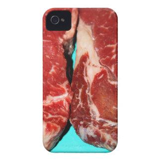 Filete de Nueva York crudo iPhone 4 Case-Mate Carcasas