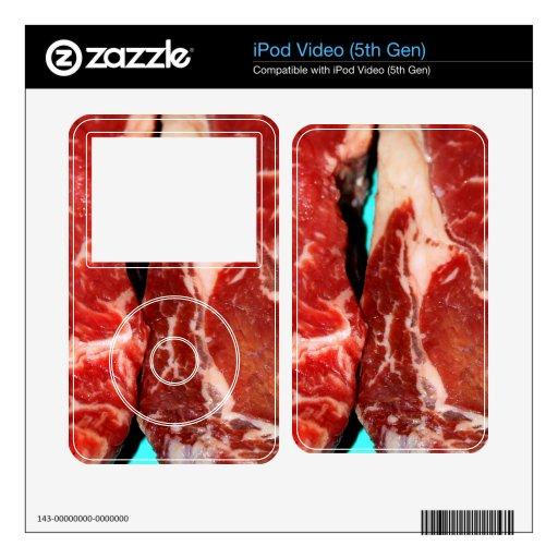 Filete de Nueva York crudo iPod Video Skins