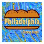 Filete del queso de Philadelphia Anuncios Personalizados