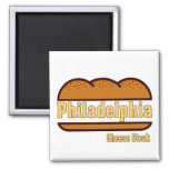 Filete del queso de Philly Imán Cuadrado