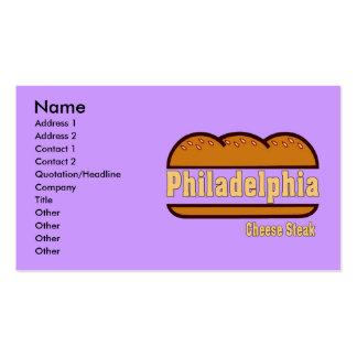 Filete del queso de Philly, Plantilla De Tarjeta De Negocio