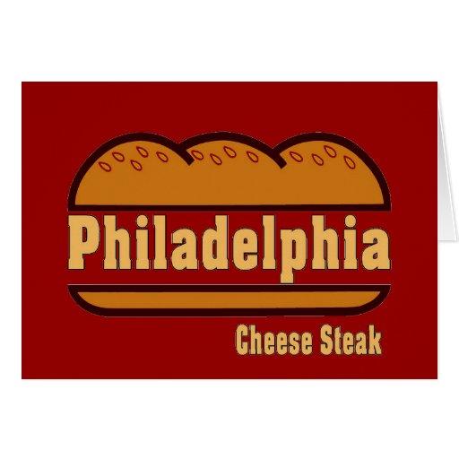 Filete del queso de Philly Tarjetas