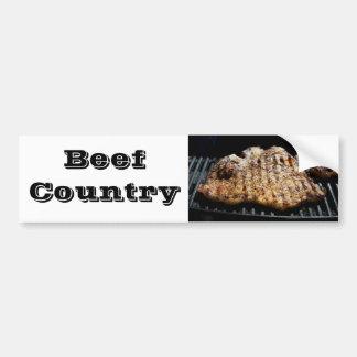 Filete en la parrilla - país de la carne de vaca etiqueta de parachoque
