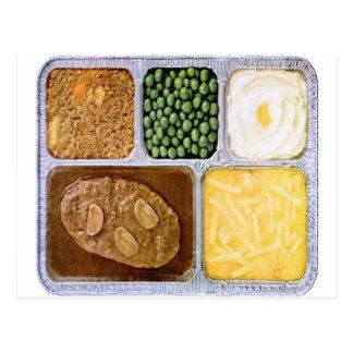 Filete retro de Sailsbury de la cena de TV del Tarjetas Postales