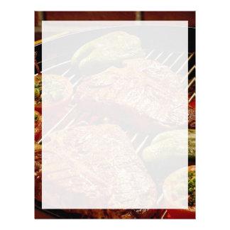 Filetes deliciosos del T-hueso Membretes Personalizados