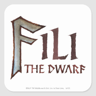 Fili Name Square Sticker