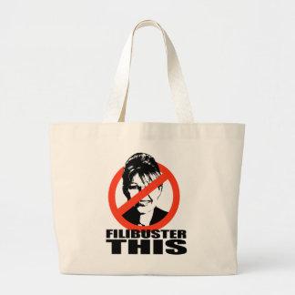 Filibuster this jumbo tote bag