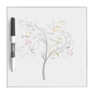 Filigaree swirly colorful tree Dry-Erase board