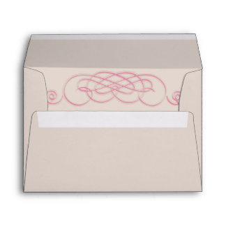 Filigree and Vine Roses Wedding Envelope