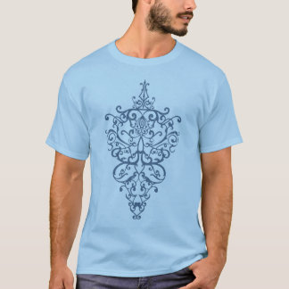 filigree  blue T-Shirt