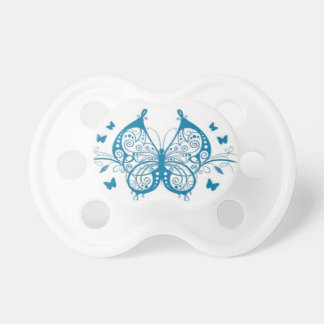 Filigree Bluee Butterfly Pacifiers
