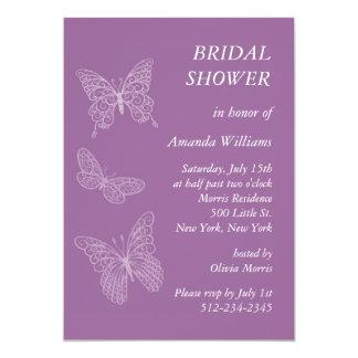 Filigree Butterfly Bridal Shower (purple) Personalized Invitation