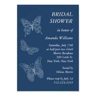 Filigree Butterfly Bridal Shower (teal) Invite