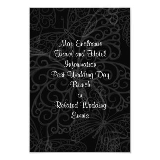 Filigree Butterfly Enclosure Card in Black