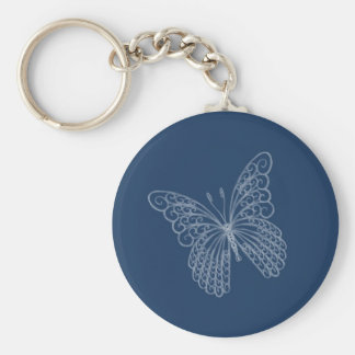 Filigree Butterfly Key Chain in Teal