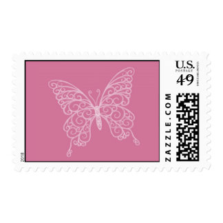 Filigree Butterfly Stamp