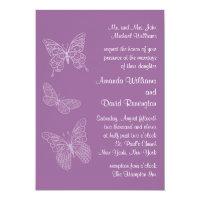 Filigree Butterfly Wedding Invitation in Purple (<em>$2.27</em>)