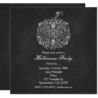 Filigree Chalkboard Fall Pumpkin Fall Invitations