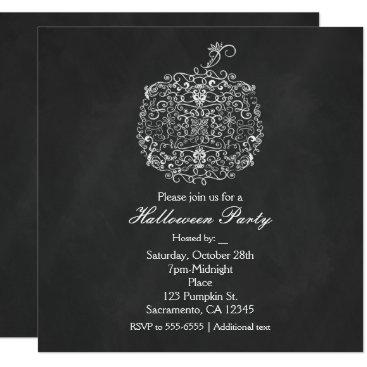 printabledigidesigns Filigree Chalkboard Fall Pumpkin Fall Invitations
