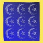 Filigree Crescent Moon and Star Bandana