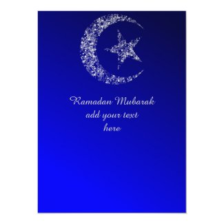 Filigree Crescent Moon and Star Invitation