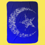 Filigree Crescent Moon and Star Receiving Blankets