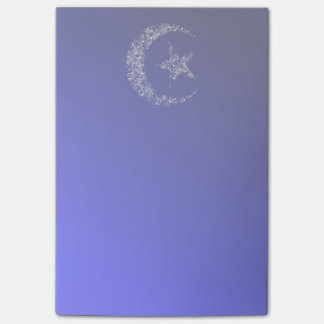 Filigree Crescent Moon and Star Post-it® Notes