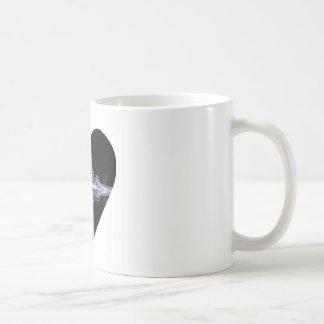 Filigree Design Fractal Art Heart Coffee Mug