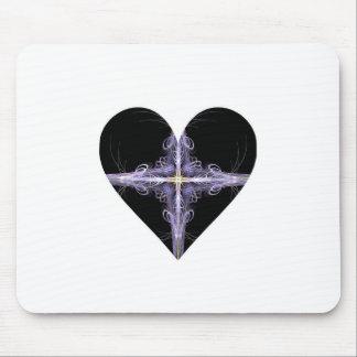 Filigree Design Fractal Art Heart Mouse Pad